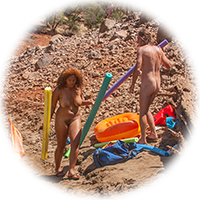 nude camping group shot