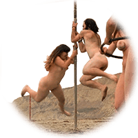 naturists at the beach fun games