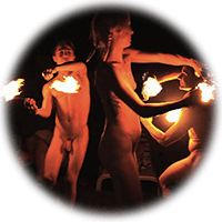 fire spinning clothes-free